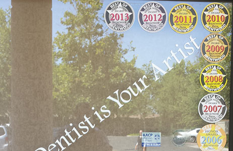 Dentist Brentwood Award logos 2